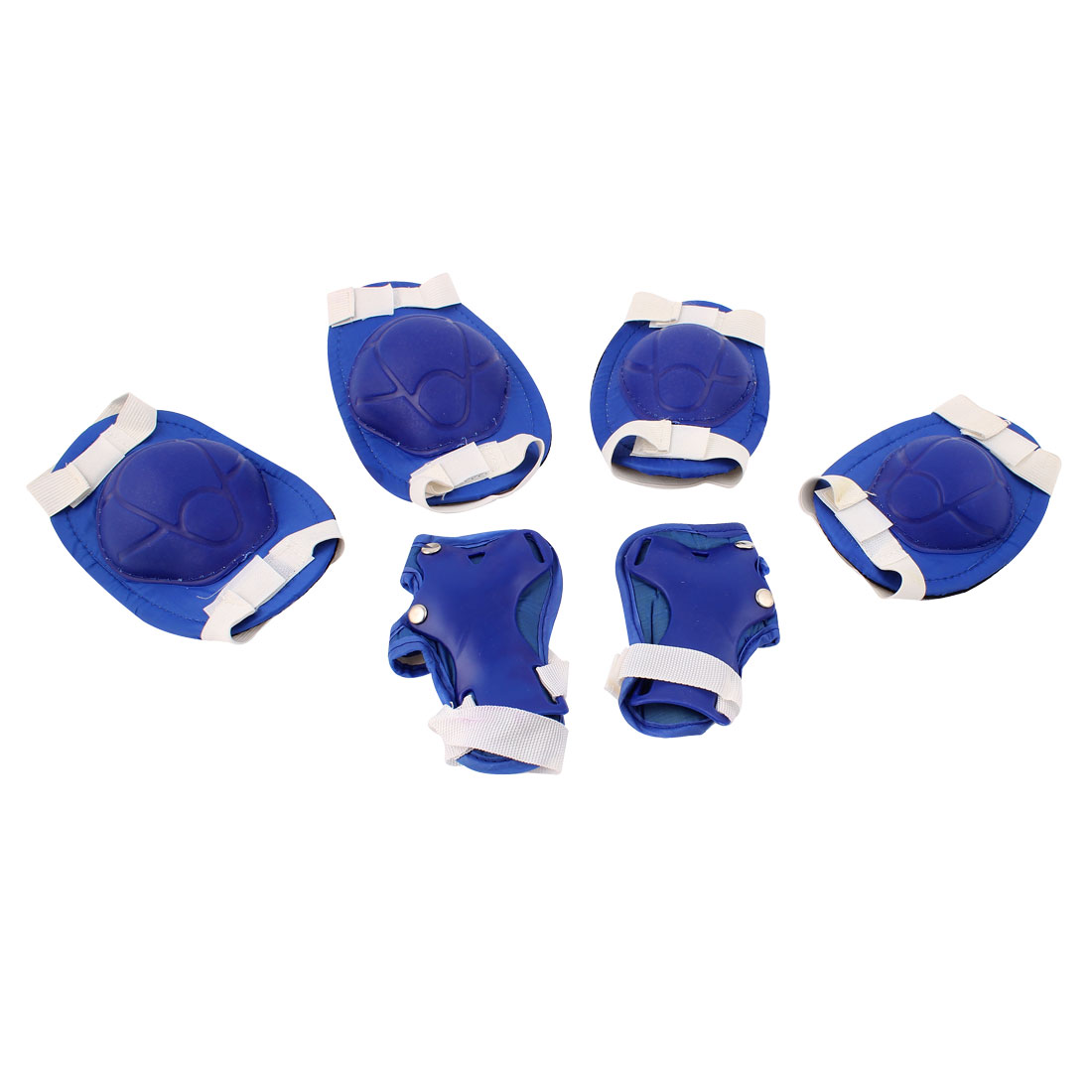Unique Bargains 6 in 1 Skiing Skating Palm Elbow Knee Support Protector Blue by