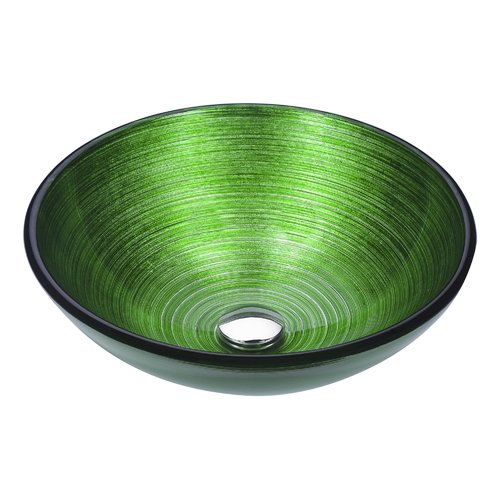 Anzzi LS-AZ287 Posh Series Deco-Glass Vessel Sink in Brushed Green