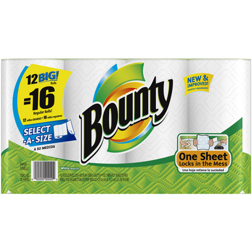Bounty Select-A-Size Big Rolls Paper Towels, 12ct