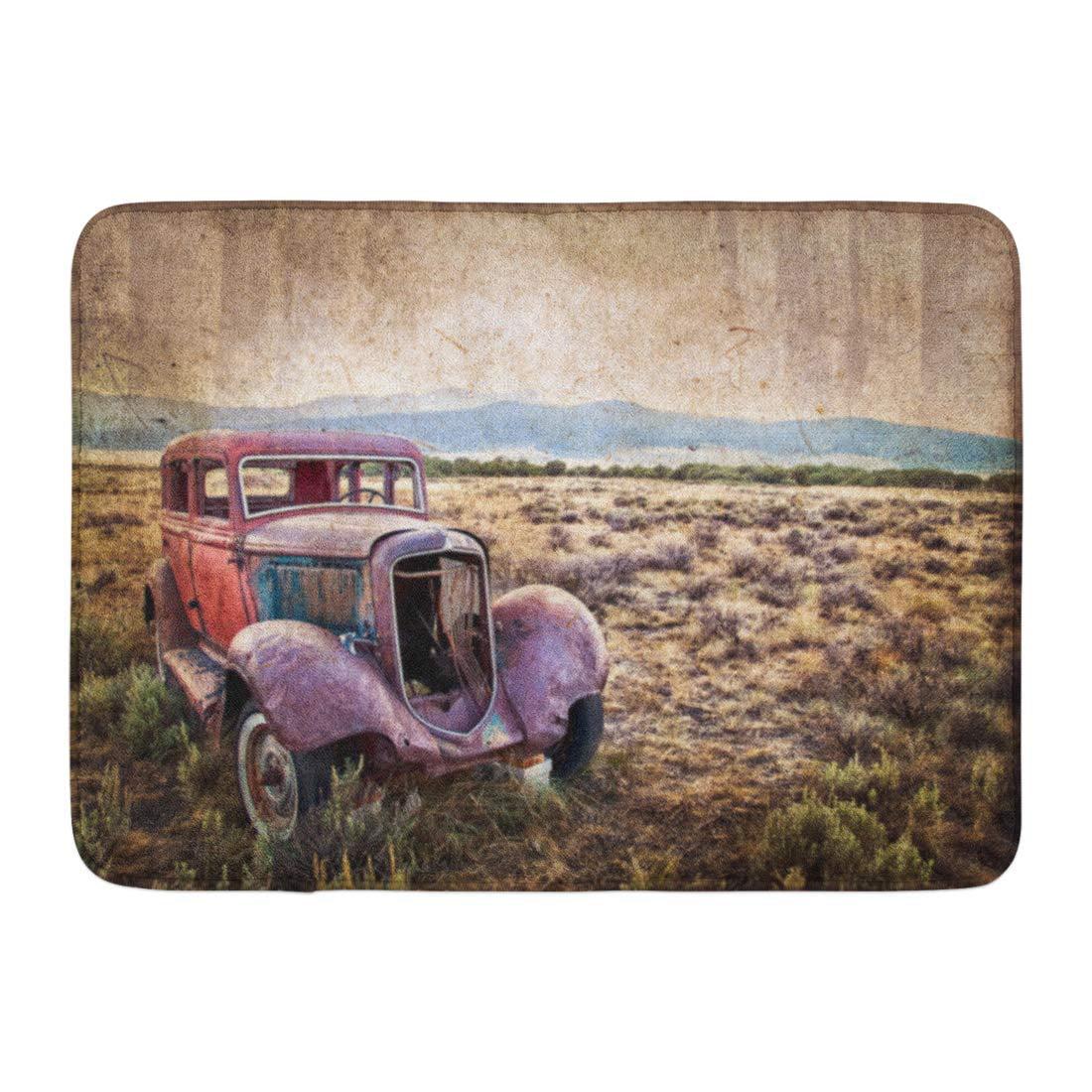 GODPOK Desert Wreck Rusty Wrecked Car Vintage Style