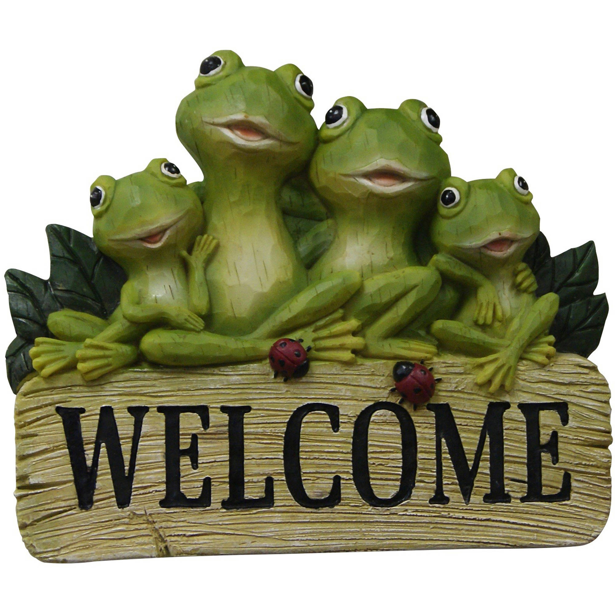 "8"" Hanging Welcome Frog Sign"