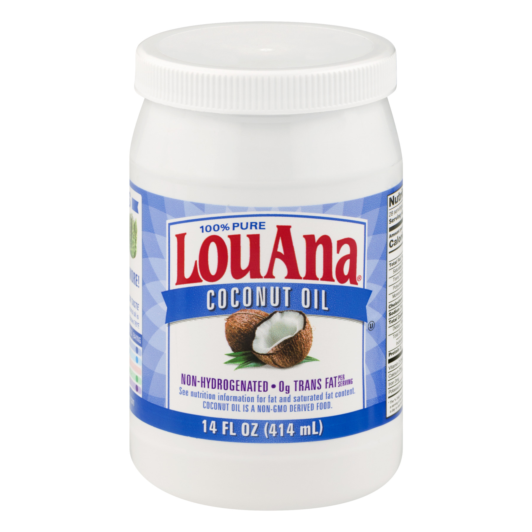 LouAna Pure Coconut Oil, 14.0 FL OZ