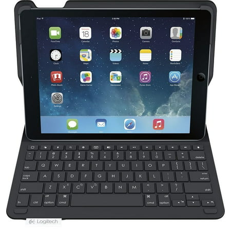 Logitech Type+ Wireless Keyboard Folio Case iPad 2018 6th Generation 9.7-inch A1893, A1954 - Refurbished ()