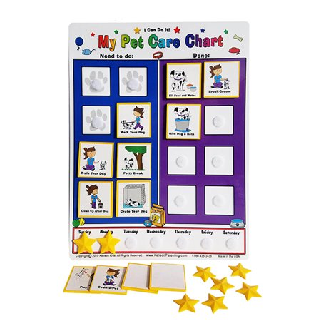 Kid Inspired, I Can Do It! Dog Pet Care Chart by Kenson Kids - Pet Size Chart