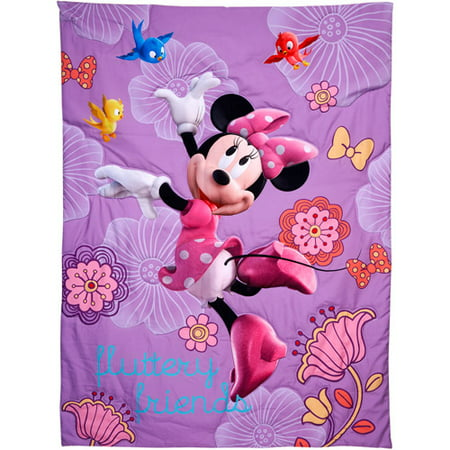 Disney Minnie\'s Fluttery Friends 4 Piece Toddler Bedding Set ...
