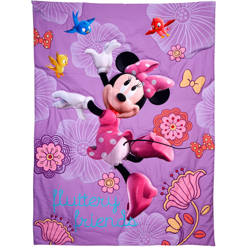 Best Disney Minnie Mouse Fluttery Friends Piece Toddler Bedding Set Image of