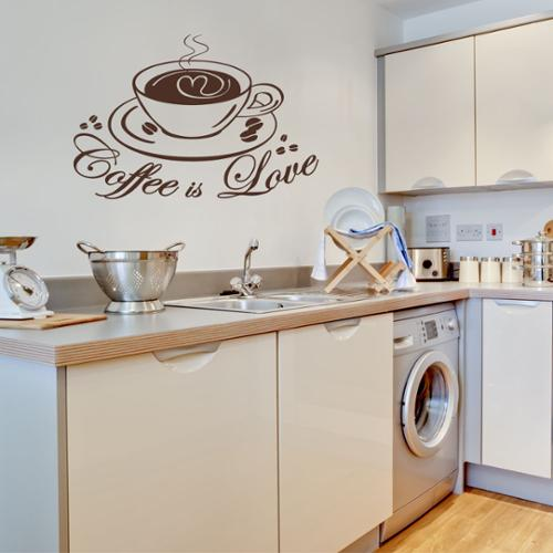 Style And Apply Coffee Love Kitchen Vinyl Wall Art