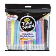 Crayola Take Note 14 Erasable Highlighters & 1 Bonus Permanent Marker, Assorted Colors, Classroom & Office Supplies, Gift 14Ct w/Bonus