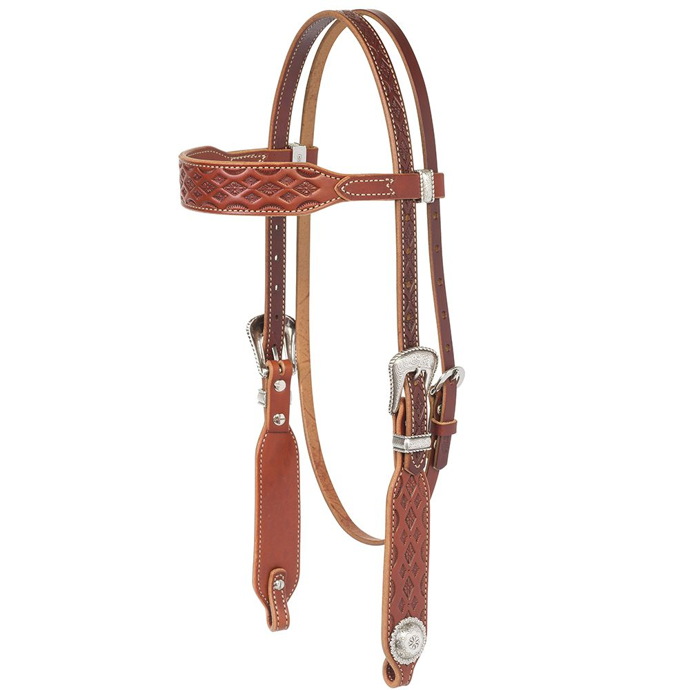 Weaver Leather  Aztec  Browband Headstall  Chestnut