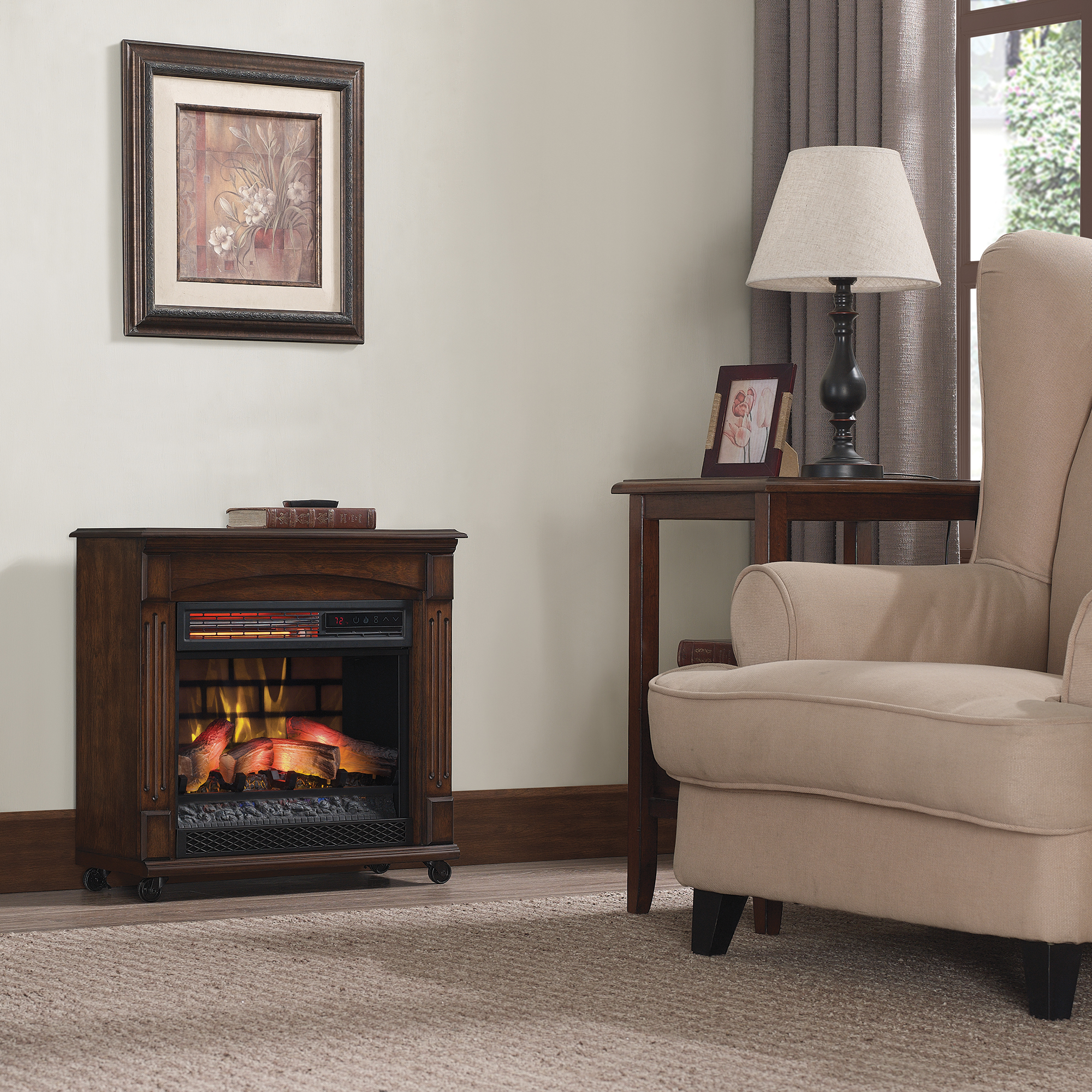 Chimney Free Rolling Mantel Infrared Fireplace Reviews