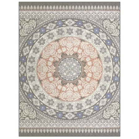 Mainstays Circle Multi Over-sized Medallion Print Area Rug or Runner