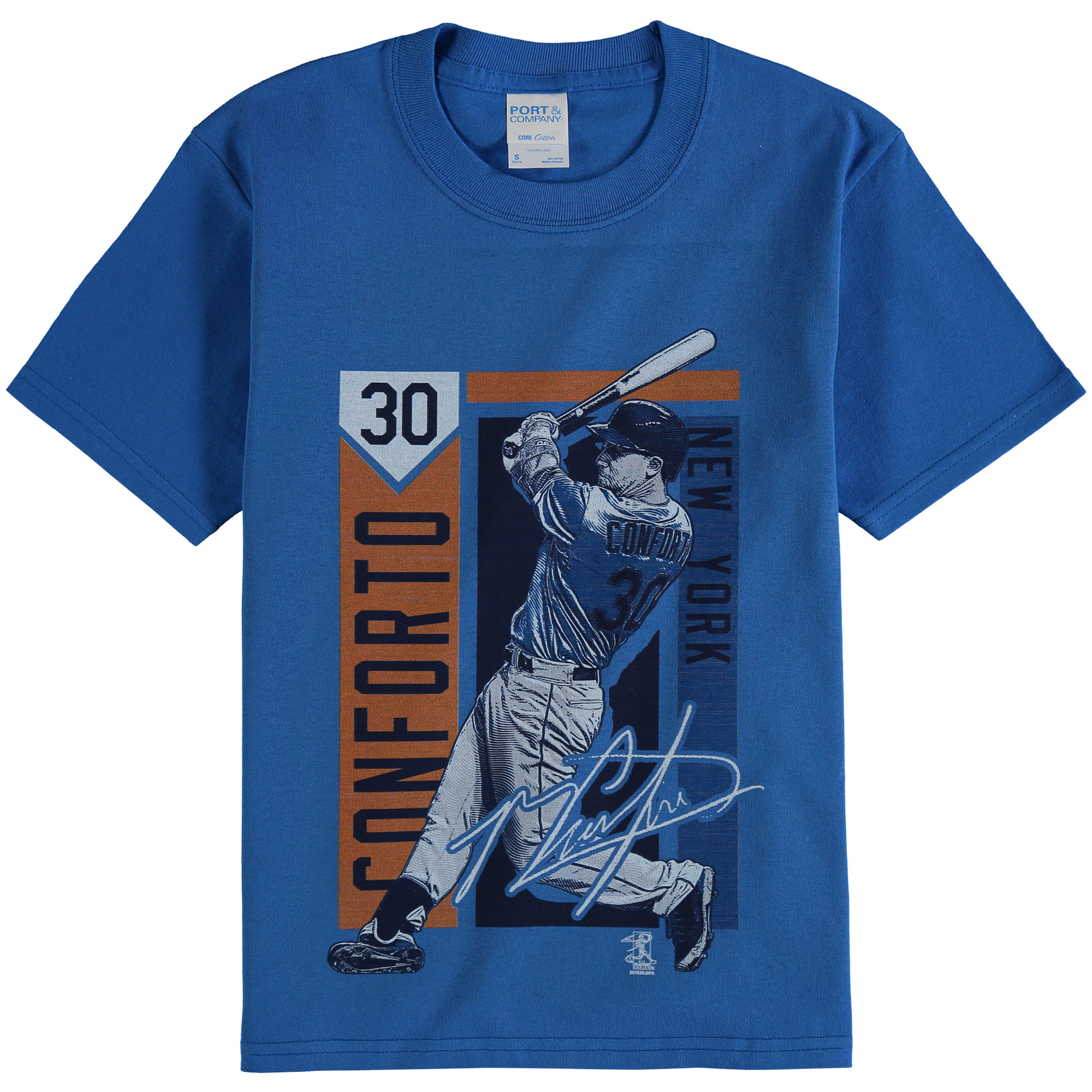 Michael Conforto New York Mets Youth Color Block Player Series Graphic T-Shirt - Royal