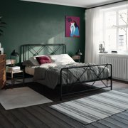 RealRooms Ally Metal Farmhouse Bed, TWIN, FULL, QUEEN, KING, Black, White
