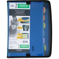 """Five Star 7-Pocket Expanding File, Tabs, 8 1/2"""" x 11"""", Assorted (35170)"""