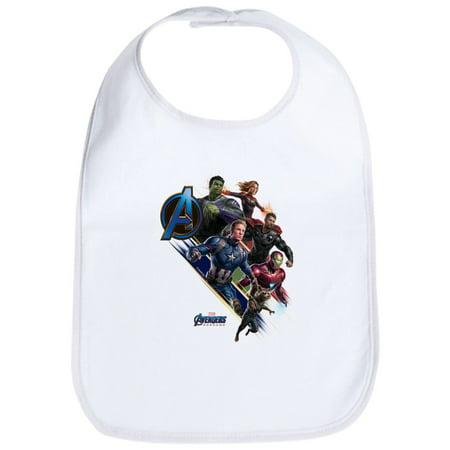 CafePress - Avengers Endgame Characters - Cute Cloth Baby Bib, Toddler Bib - Baby Avengers