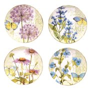 Certified International Hand-painted Herb Garden 11-inch Assorted Ceramic Dinner Plates (Set of 4)