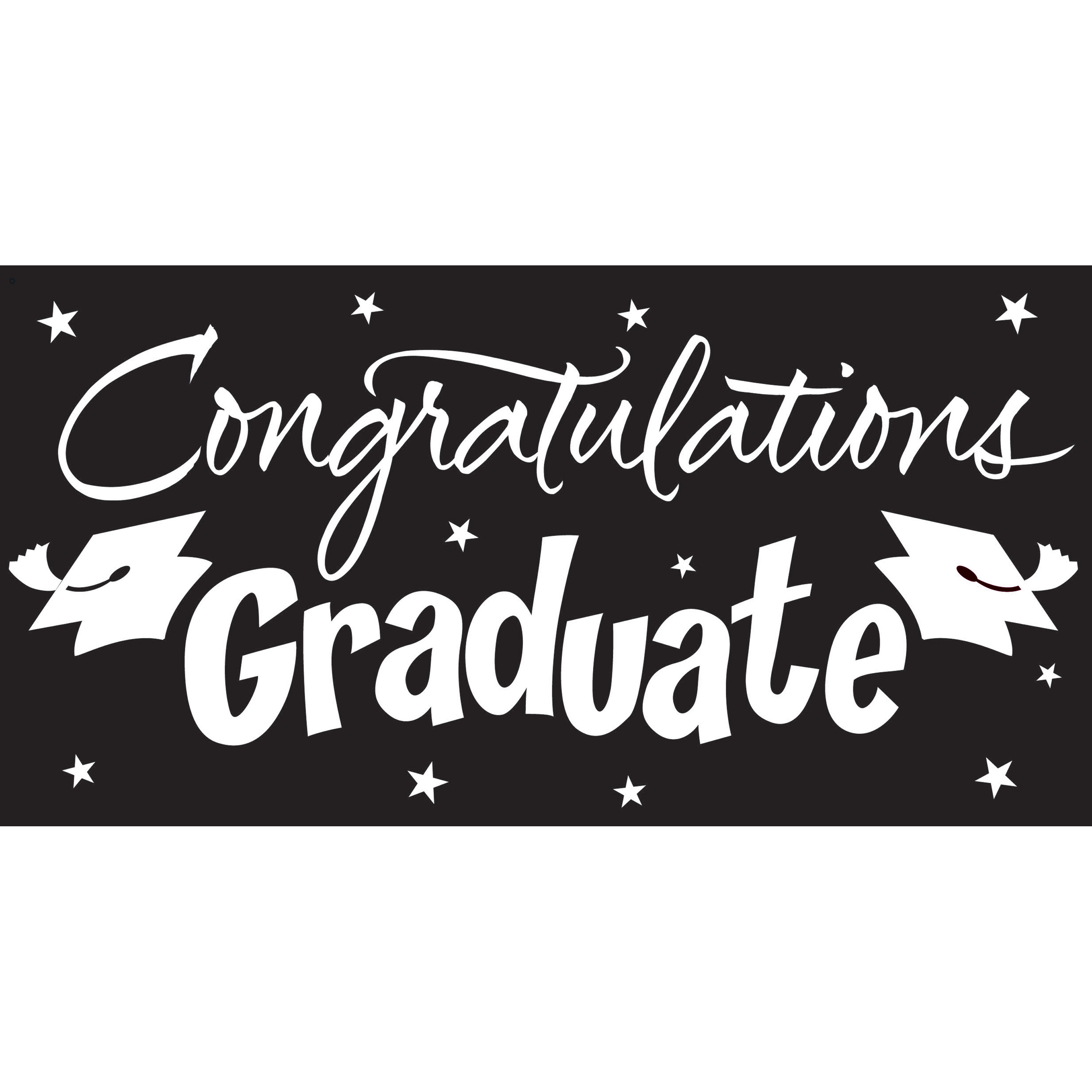 Black Graduation Card Decoration