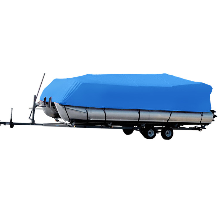 "New 5 YEAR CANVAS HEAVY DUTY BLUE VHULL FISH SKI RUNABOUT COVER FOR 21' to 24' FT BOAT, IDEAL FOR 102"" BEAM by Oakeskaran"