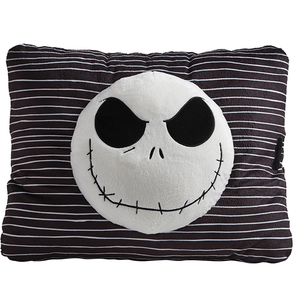 Pillow Pets Nightmare Before Christmas Jack Skellington Plush Toy- Black