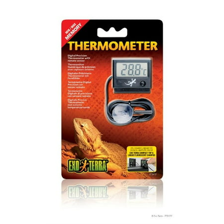 Exo Terra Digital Thermometer With Probe  Celsius And Fahrenheit
