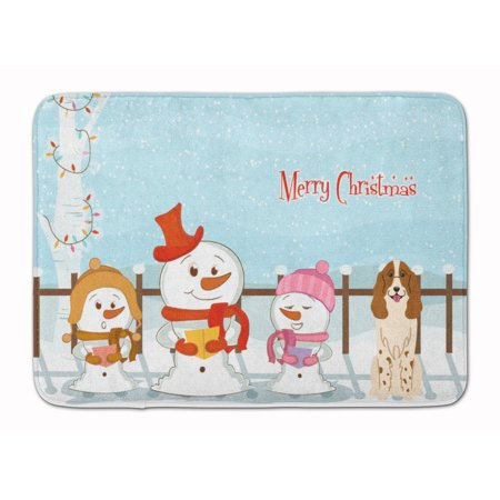 merry christmas russian spaniel machine washable memory foam mat - Russian Merry Christmas