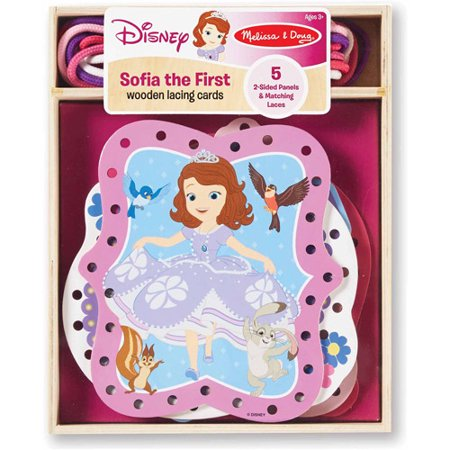 Disney Sofia the First Wooden Lacing Cards