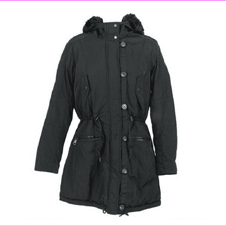 Andrew Marc New York Women's Fully Faux Fur Lined BLACK Utility Jacket XS NWT Marc New York Black Jacket
