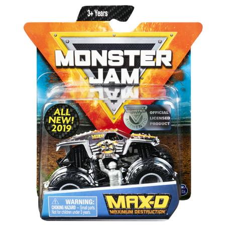 Monster Jam, Official Max D Monster Truck, Die-Cast Vehicle, Legacy Truck Series, 1:64 Scale - Monster Trucks For Kids Halloween