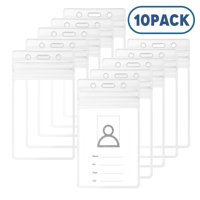 TSV 10Pcs ID Card Holder Clear Plastic Badge Resealable Waterproof Business Case
