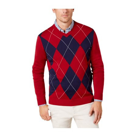 Club Room Mens Argyle Knit Pullover Sweater