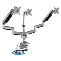 "Mount-It! Triple Monitor Desk Mount for 17""-32"" Computer Screens with USB Hub, 66 LBS Capacity"