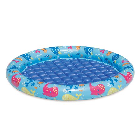 Play Day Inflatable 1 Ring Round Baby Pool Blue Walmart Com
