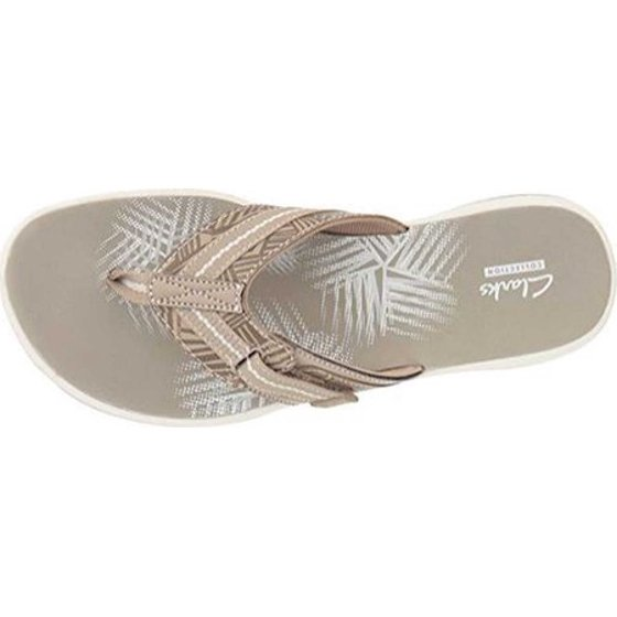 2dfaebe0c715 ... and footbed for long-lasting comfort. Hook and Loop Closure TPR Outsole  EVA Midsole Fabric Lining EVA Sheet Footbed. Women s Clarks Breeze Sea Flip  Flop