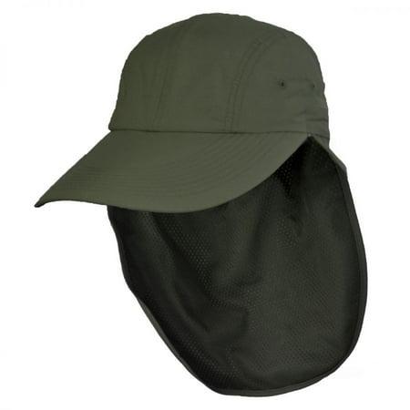 cfb663a5 UPF 50+ Neck Flap Adjustable Baseball Cap - L/XL - Olive Green - Walmart.com