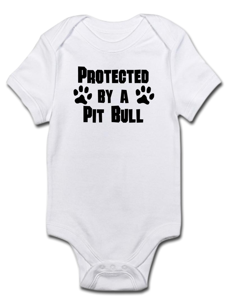 CafePress Christmas Pitbull Puppy Body Suit Baby Bodysuit