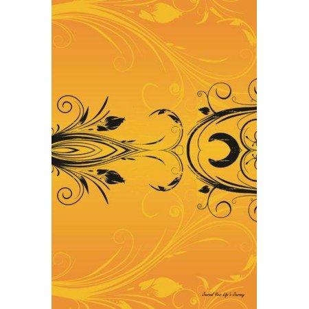 Journal Your Life's Journey: Floral Orange, Lined Journal, 6 X 9, 100 Pages