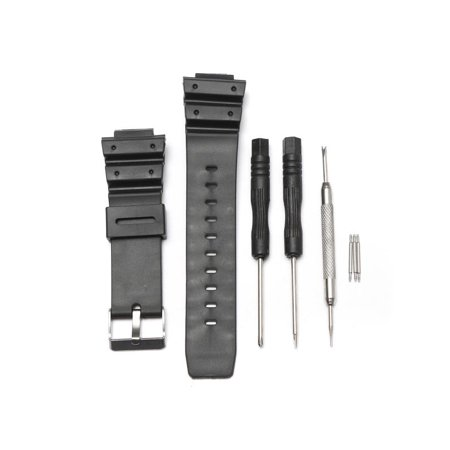 Black Silicone Rubber Men Replacement Band Strap With Tool For G-Shock Watch Fitting 25mm Width