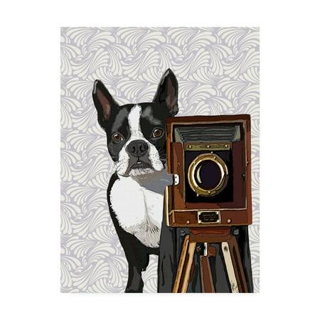 Trademark Fine Art 'Boston Terrier Photographer' Canvas Art by Fab