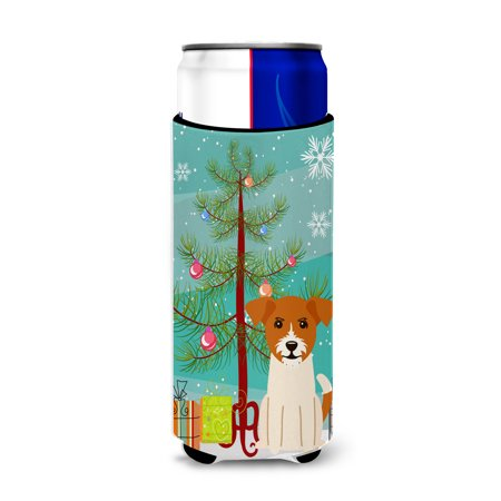 Xmas Jack - Merry Christmas Tree Jack Russell Terrier Michelob Ultra Hugger for slim cans BB4233MUK