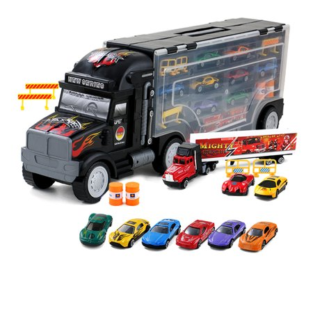KARMAS PRODUCT Transporter Vehicle with Die Cast Metal Truck Car for $<!---->