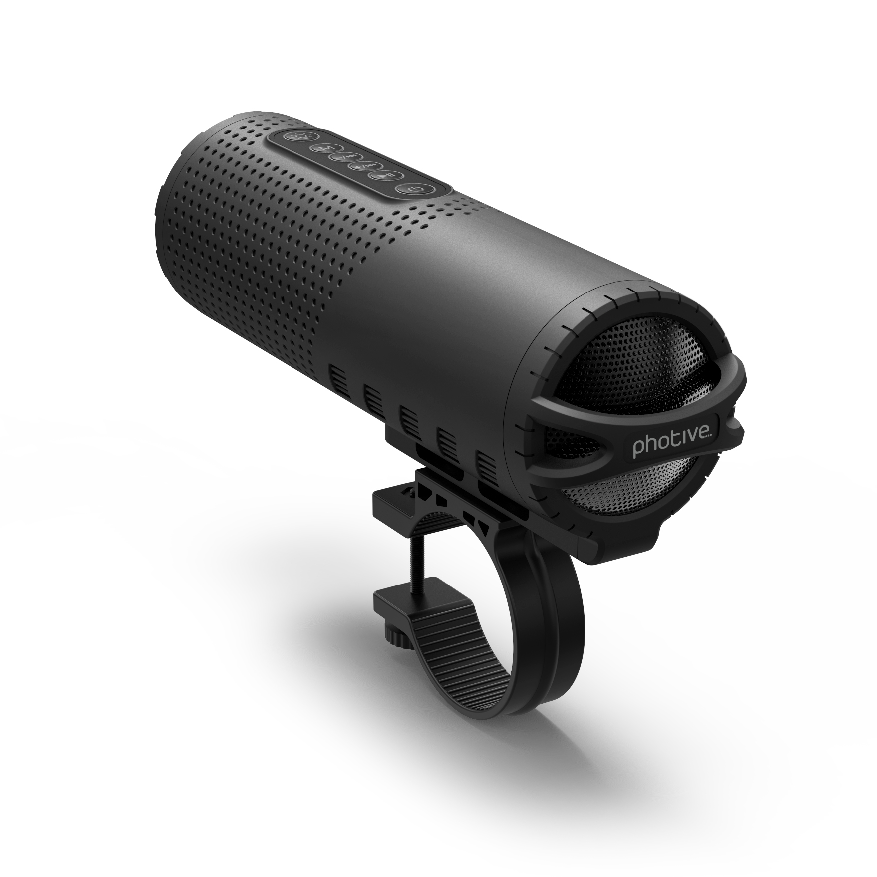 Photive Rechargeable LED Bike Flashlight with Built-in Wireless Bluetooth Speaker. All Weather