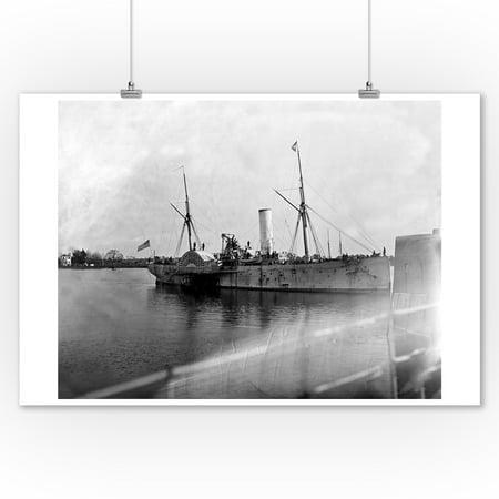 Hampton Roads, VA - Steamer Fort Jackson Civil War Photograph (9x12 Art Print, Wall Decor Travel Poster)