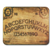 KDAGR Seance Ouija Board Talking Spirit Ghost Old Contact Dead Death Mousepad Mouse Pad Mouse Mat 9x10 inch