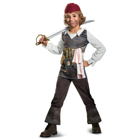 Boys Potc5 Captain Jack Classic Costume](Official Jack Sparrow Costume)