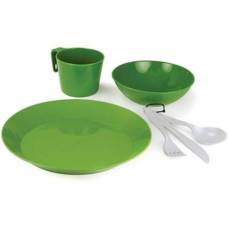 GSI Outdoors 77313 Cascadian 1-Person Table Set, Green