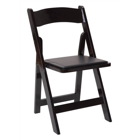 Wooden Folding Chair in Black Finish - Set of