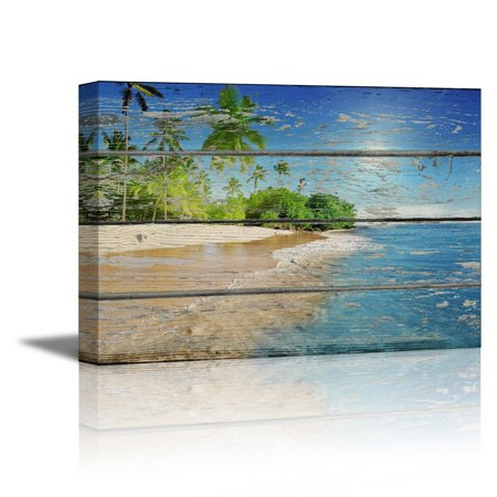 Wall26 Canvas Prints Wall Art Tropical Beach With Palm