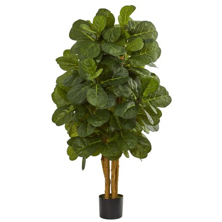 - Nearly Natural 4 ft. Fiddle Leaf Fig Artificial Tree