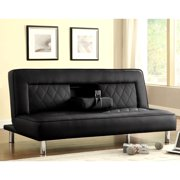 A Line Furniture Abysen Modern Decorative Black Quilted Design Sofa Bed Lounger