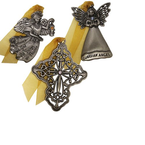 Gloria Duchin 3pc Inspirational Ornament Set